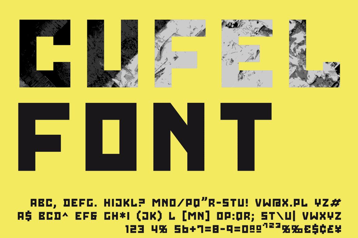 CUFEL Font presentation